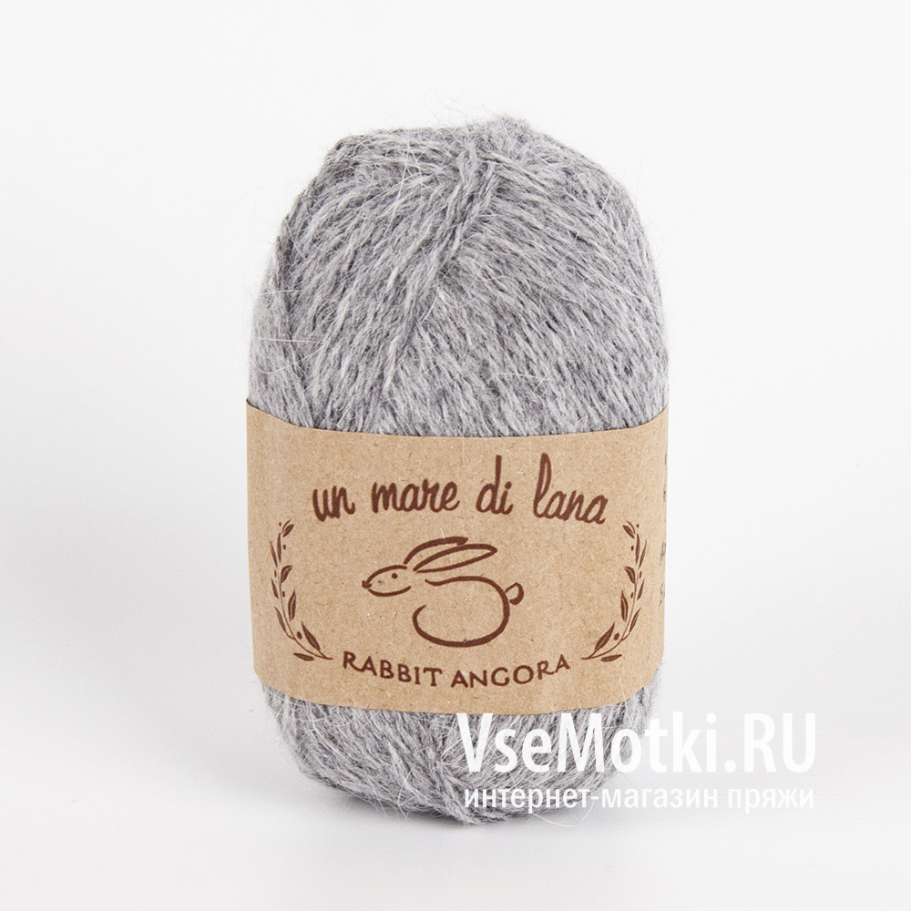 Пряжа Вул Раббит Ангора (Wool Sea Rabbit Angora) №08 светло-серый